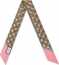 Gucci - Fiocco 'GG Bees' - women - Silk - One Size - NUDE & NEUTRALS