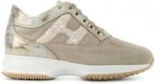 Hogan - Interactive sneakers - women - Cotton/Leather/Suede/rubber - 35, 35.5, 36, 37, 37.5, 38, 38.5, 39, 39.5, 40 - NUDE & NEUTRALS
