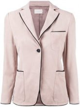 L'Autre Chose - Pipin blazer - women - Lamb Nubuck Leather - 38 - PINK & PURPLE