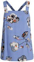 PIECES Flower Printed Sleeveless Top Women Blue
