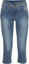 Bermuda di jeans con ricamo dorato (Blu) - RAINBOW