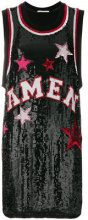 Amen - Canotta lunga di paillettes - women - Viscose/PVC - One Size - BLACK