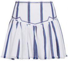 Isabel Marant Étoile - Minigonna con motivo a strisce - women - Cotone - 36, 38, 34, 40, 42 - Blu