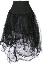 Marc Le Bihan - high-waisted tulle skirt - women - Polyamide/Silk - 40 - Nero