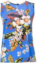 Dvf Diane Von Furstenberg - sleeveless floral blouse - women - Silk - XS, M - BLUE