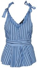 VERO MODA Striped Wrap Sleeveless Top Women Blue