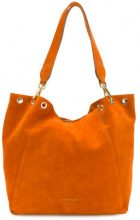 L'Autre Chose - Borsa a spalla - women - Calf Suede/Polyester/Polyamide - OS - YELLOW & ORANGE