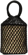 Sensi Studio - Black straw and net bucket bag - women - Polyester/Straw - One Size - Nero