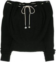 Calvin Klein 205W39nyc - drawstring sweater - women - Cotton - S, M - BLACK
