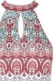 TALLY WEiJL - Top all'Americana Geometrico - Donna - Multicolore - L