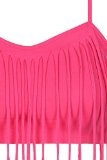 TALLY WEiJL - Top Rosa con Frange - Donna - Rosa