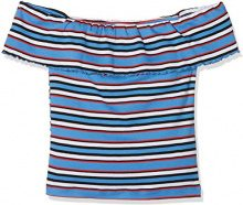 New Look Multi Stripe Bardot, T-Shirt Donna, Blue (Blue Pattern 49), 38