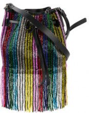 Les Petits Joueurs - mini Daliah beaded bag - women - Leather/Sequin - OS - BLACK
