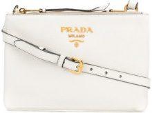 Prada - double zip shoulder bag - women - Leather - OS - WHITE