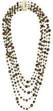 - Rosantica - 'Orti' necklace - women - Brass/Pietra - Taglia Unica - Marrone