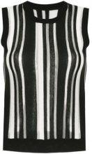 - Guild Prime - Top a righe - women - fibra sintetica/acrilico/cotone - 34 - di colore nero