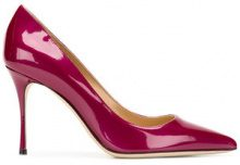 Sergio Rossi - pointed stiletto pumps - women - Leather/Patent Leather - 36, 36.5, 37, 37.5, 38, 38.5, 39, 39.5, 40 - PINK & PURPLE