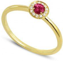Tous mes bijoux Donna  9 carati  Oro giallo    G rosso Rubino Diamante FINERING, Oro giallo, 8, cod. BADM07059-0001