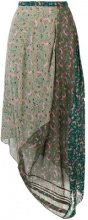 Chloé - asymmetric floral print skirt - women - Silk/Viscose - 38, 42, 34, 36, 40 - GREEN