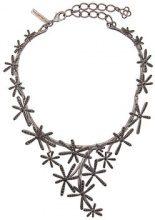 Oscar de la Renta - Daisy collar necklace - women - Pewter - OS - METALLIC