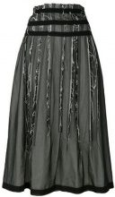 Comme Des Garçons Vintage - layered distressed skirt - women - Cotone/Polyester - S - Nero