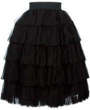 Dolce & Gabbana - ruffled layered skirt - women - Silk/Polyamide/Viscose - 38 - Nero