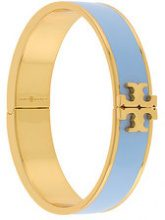 Tory Burch - front logo bracelet - women - metal - OS - BLUE