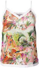 Piccione.Piccione - Top con motivo tropicale - women - Silk - 40, 42, 44 - Multicolore