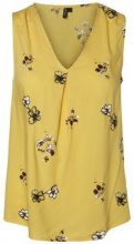 VERO MODA V-neckline Sleeveless Top Women Yellow