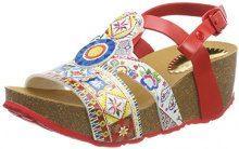 Desigual Shoes_odisea Microrapport, Sandali con Cinturino alla Caviglia Donna, Multicolore (3061 Rojo Roja), 39 EU