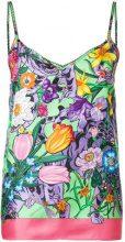 Gucci - Canottiera con motivo a fiori - women - Silk - 42, 44 - MULTICOLOUR