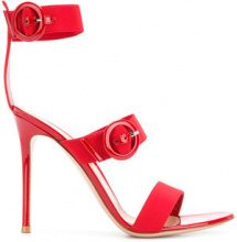 Gianvito Rossi - Sandali con fibbie - women - Nappa Leather/Spandex/Elastane/Leather - 36, 37, 37.5, 38, 39, 39.5, 40, 41 - RED