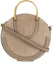 Chloé - Borsa a spalla 'Pixie' - women - Cotone/Leather - OS - Color carne & neutri