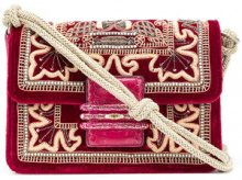 Etro - Borsa a spalla - women - Leather/Velvet - OS - RED