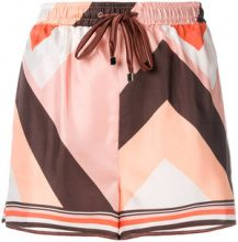 F.R.S For Restless Sleepers - Shorts stampati - women - Silk - XS, S - PINK & PURPLE