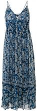 Mes Demoiselles - Abito midi stampato - women - Cotton/Viscose - 38 - BLUE