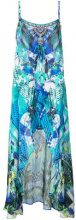 Camilla - multi-print maxi dress - women - Silk - S, M - BLUE