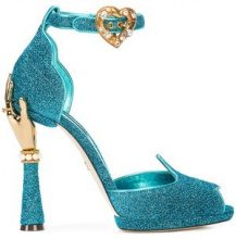 Dolce & Gabbana - Bette sandals - women - Leather/Acrylic - 35, 35.5, 36, 37.5, 38, 39.5, 40, 41 - Blu