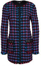 Marc Cain Sports HS 31.72 W15, Cappotto Donna, Mehrfarbig (Cyan 345), 48 (N5/48)