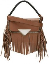 Sara Battaglia - 'Amber' shoulder bag - women - Calf Leather/Polyester - OS - BROWN