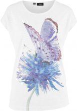 Maglia in filato fiammato con stampa effetto acquarello Farfalla (Bianco) - bpc bonprix collection