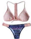 CTHEE Donne Vintage Tessitura Triangolo Imbottito Bikini Sexy Costumi da bagno moda Mare Costume da bagno