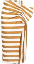 Silvia Tcherassi - stripe and polka dot skirt - women - Cotone - XXS - WHITE