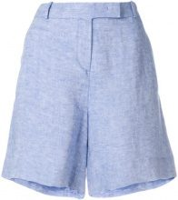 Loro Piana - Shorts corti - women - Linen/Flax - 42 - BLUE