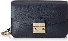 FURLA Metropolis Small Shoulder Bag - Borse a spalla Donna, Blu (Blu Pavone D), 8x16x25 cm (B x H T)