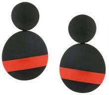Monies - Orecchini a contrasto - women - wood - OS - BLACK