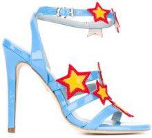 Chiara Ferragni - 'Stars' sandals - women - Leather/Patent Leather/Polyester - 38, 39, 40 - BLUE