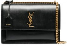 Saint Laurent - black sunset medium leather bag - women - Bos Taurus - One Size - BLACK