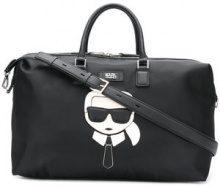 - Karl Lagerfeld - Ikonik Weekender bag - women - fibra sintetica/pelle di vitello - Taglia Unica - di colore nero