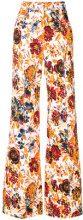 MSGM - Pantaloni a palazzo - women - Cotone/Spandex/Elastane - 38, 40, 44, 42 - Multicolore